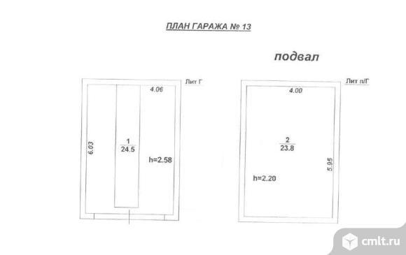 Капитальный гараж 48 кв. м ВЗСАК-2. Фото 1.