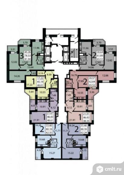 1-комнатная квартира 48,35 кв.м. Фото 5.