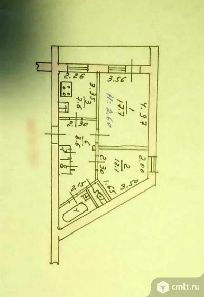 2-комнатная квартира 52 кв.м. Фото 7.