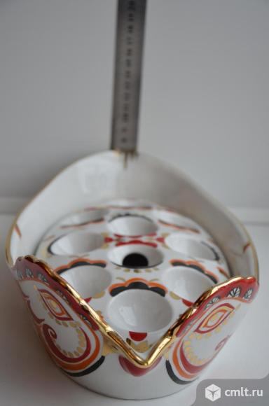Фарфоровый лоток для яиц Курочка Ряба. Вербилки.. Фото 10.