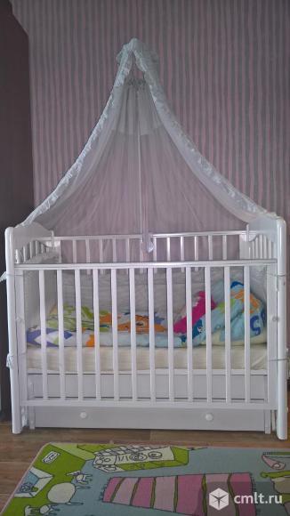 """Кроватка детская с универсальным маятником """"Ванечка"""" Гандылян. Фото 1."""