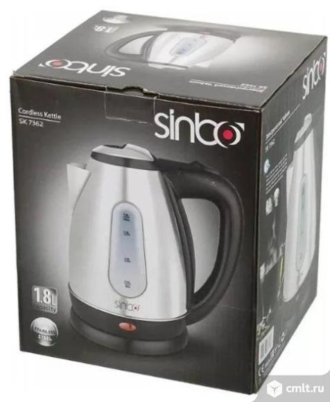Новый чайник Sinbo SK 7362, 2200Вт, 1,8 л, Silver. Фото 1.