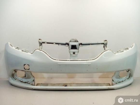 Бампер передний RENAULT LOGAN / SANDERO 14- б/у 620228143R 3*. Фото 1.