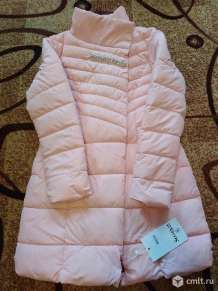 Новое нежно розовое димисезонное пальто(новое). Фото 2.