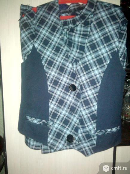 Продам школьную форму для гимназии сарафан и юбка с жилетом в хорошем состоянии. Фото 1.