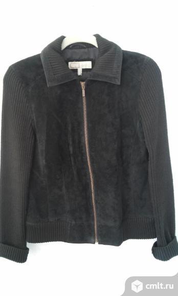 Куртка-пиджак, замша с трикотажем. Фото 1.