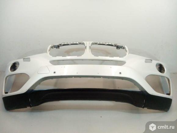Бампер передний под парк и омыв + спойлер  BMW X6 F16 14- б/у 51117422898 51117319796  4*. Фото 1.