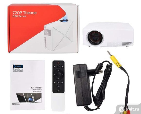Проектор 1280x720 vivibright C80 новый. Фото 1.