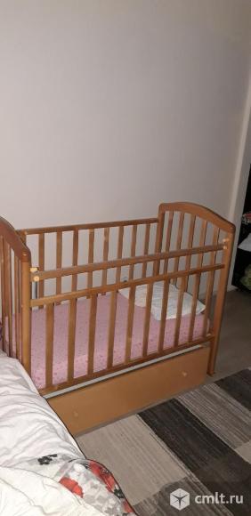 Продам кроватку+матрас подарок. Фото 1.