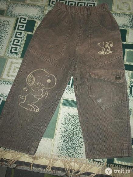 Брюки джинсовые  на мальчика 4 - 5 лет. Фото 5.
