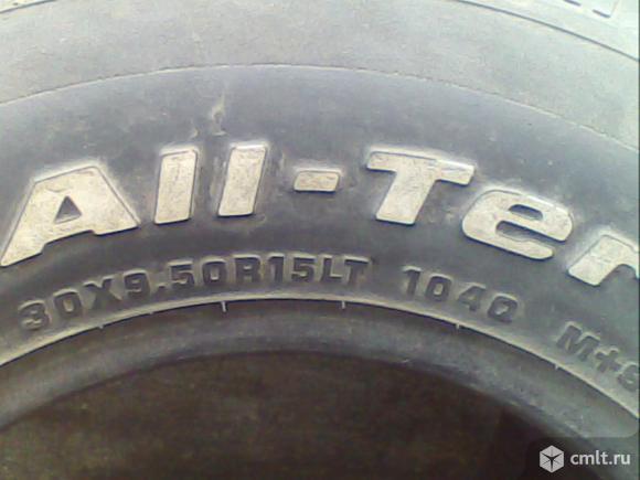 Шины 30х9.50/15 гудрич,б/у. Фото 1.