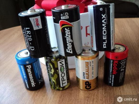 Батарейки Б/у. Фото 1.