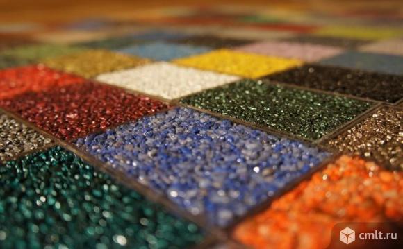 Напольное покрытие каменный пол с использованием кварцевого песка.. Фото 1.
