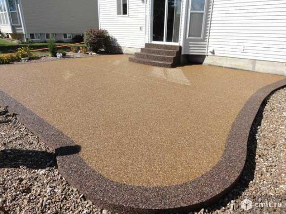 Напольное покрытие каменный пол с использованием кварцевого песка.. Фото 7.