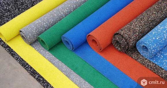Рулонное покрытие из резиновой крошки по доступной цене. Фото 1.
