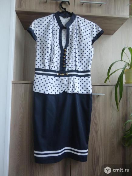 Нарядное платье с баской. Фото 1.