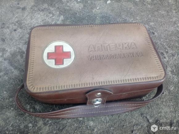 Сумка для аптечки автомобильной, производство СССР. Фото 1.