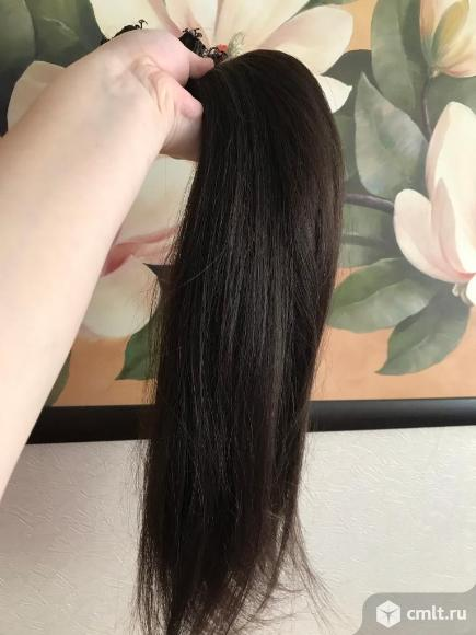 Волосы на трессах. Фото 1.