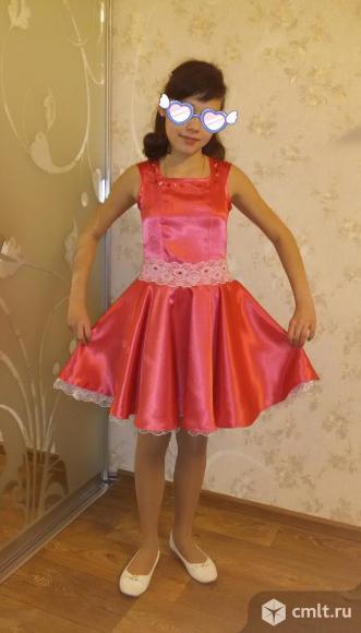 Нарядное платье 10-12 лет+ украшение + босоножки. Фото 1.