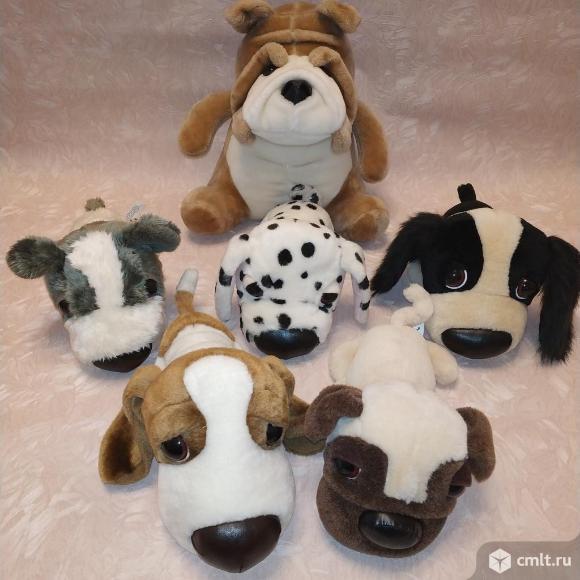 Коллекция мягких игрушек, собаки. Фото 1.