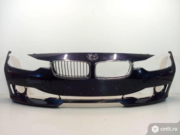 Бампер передний под омыв.фар + решетки BMW 3 F30 11-15 б/у 51117292998 51137255412  3*. Фото 1.