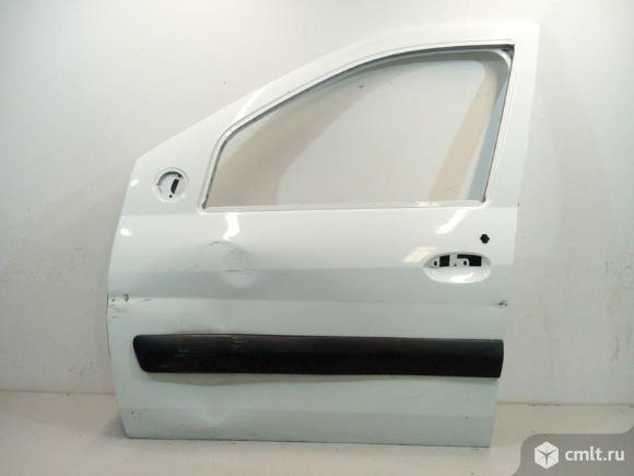 Дверь передняя левая под молдинг LADA LARGUS 12- б/у 801013696R 2*. Фото 1.
