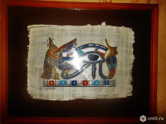 Картина на папирусе из Египта. Фото 1.