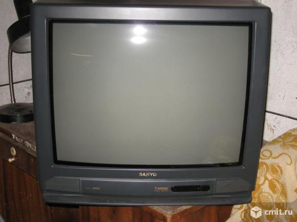 Телевизор кинескопный цв. Sanyo C25EG57. Фото 1.
