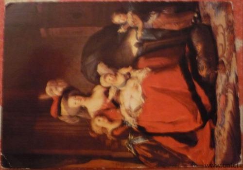 Открытка. Версаль. Королева Мария-Антуанетта и ее дети. Франция.. Фото 1.