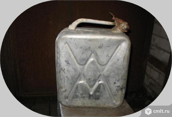 Канистра алюминиевая 20 литров бу. Фото 1.