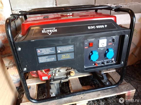 Генератор бензиновый Elitech бэс 6500Р. Фото 1.