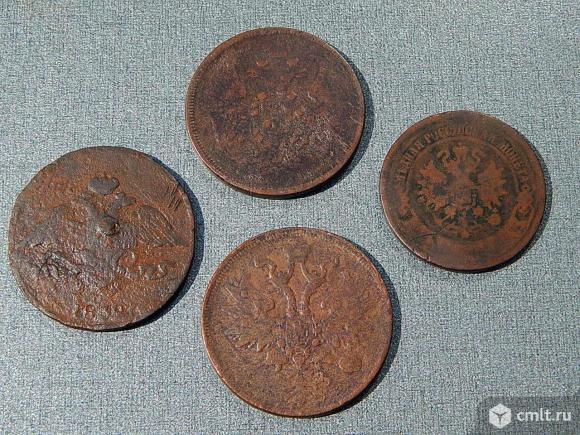 Набор 4 монеты 5 копеек 1800-х гг. Фото 5.