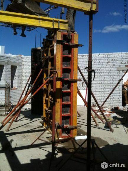 Бетонные работы: стены, колонны, перекрытия. Фото 1.