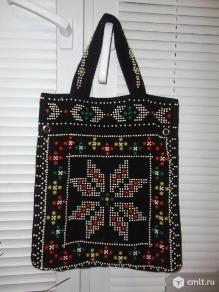 Текстильная сумка ручной работы. Фото 1.