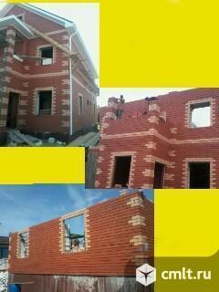 Фасады,строительство домов, коттеджей, заборов, гаражей. Кирпичная кладка. Облицовка фасадов.