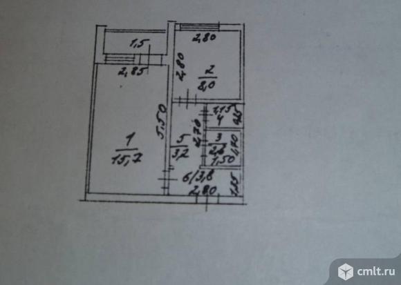 1-комнатная квартира 34,3 кв.м. Фото 9.