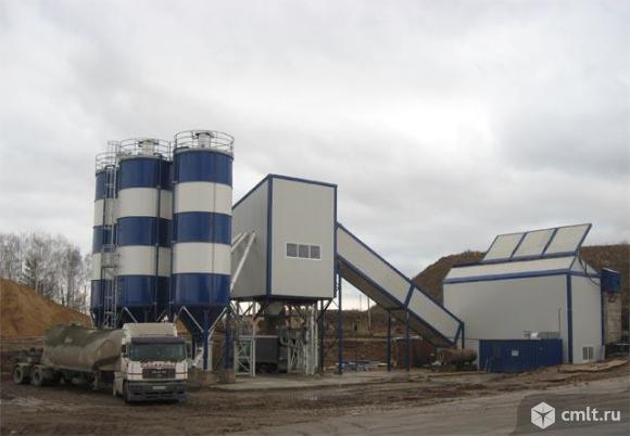 Стационарный бетонный завод SUMAB T-60. Фото 1.