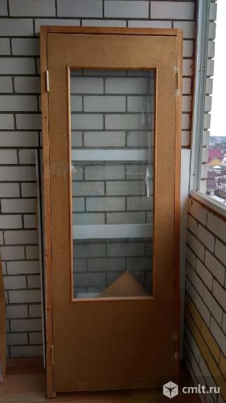 Межкомнатная строительная дверь. Фото 2.