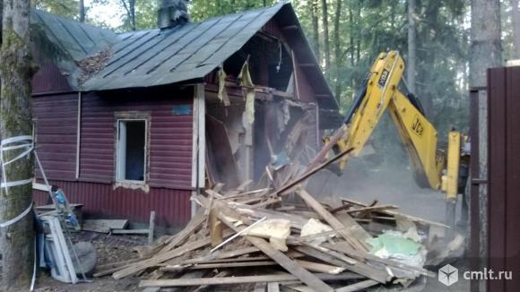 Демонтаж, снос строений (частичный, полный). Фото 2.