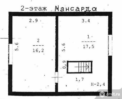 Продается: дом 97.5 м2 на участке 9.88 сот.. Фото 2.
