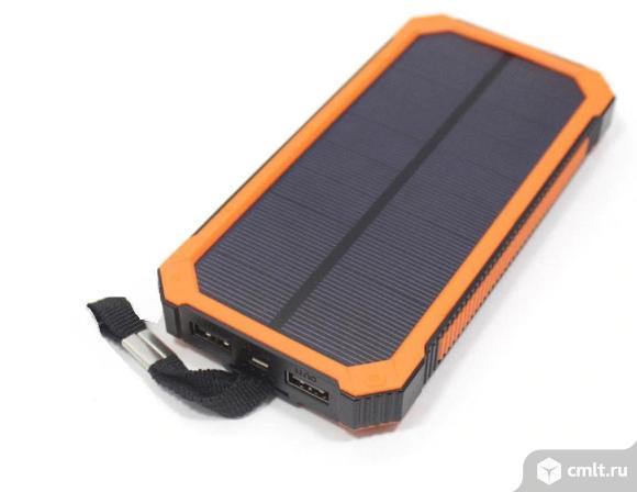 powerbank на солнечных батареях universal 30000mah. Фото 1.