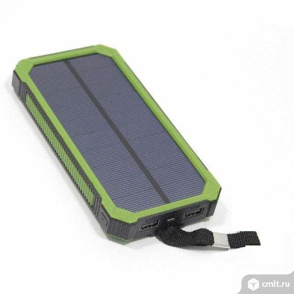powerbank на солнечных батареях universal 30000mah. Фото 4.