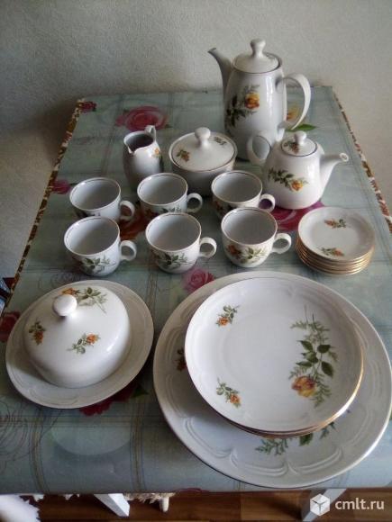 Чайный фарфоровый сервиз kahla (гдр). Фото 1.