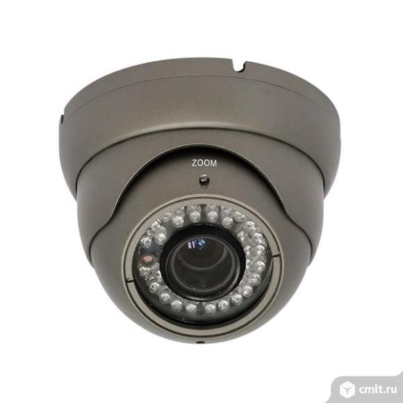 Цветная Антивандальная Уличная видеокамера Praxis PE-1112CL 2.8-12. Фото 1.