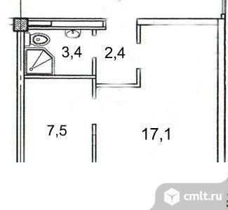 2-комнатная квартира 30,4 кв.м. Фото 8.