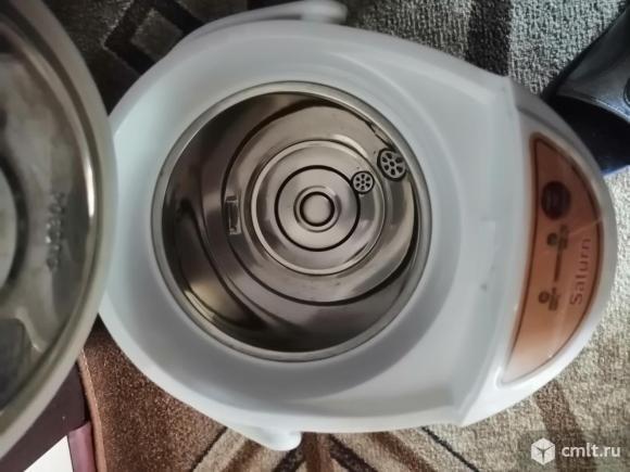 Как новый, термопот Saturn ST-EK8030 белый. Фото 3.