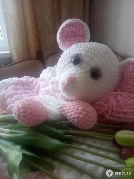 Мышка Зефирка -плюшевое счастье. Фото 1.