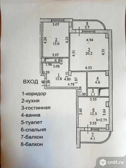 Продаётся 2-х комнатная квартира в новом монолитном 17-ти этажном доме по ул. Республиканская 74а. Фото 12.