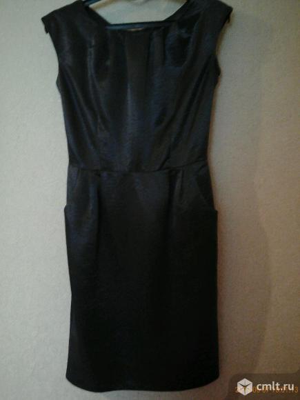 Платье-футляр (темно-серое). Фото 3.