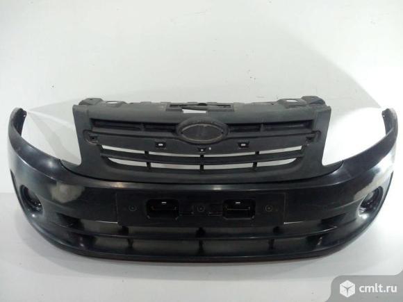Бампер передний LADA GRANTA литой 12- б/у  2190280301501 21902803056 4*. Фото 1.